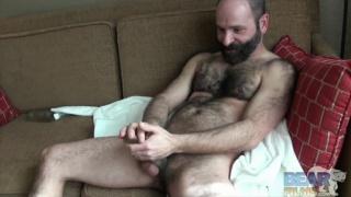 Machael Johnson plays with masturbation sleeves