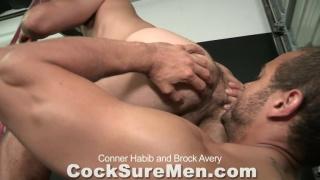 Brock fucks Connor's throat and ass