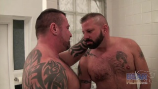 Hairy men Marc Angelo and Cooper Hill fucking