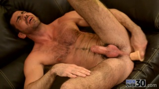 hairy hunk dildo fucking his ass