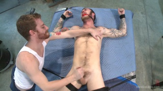 Christian Wilde with a dildo at men on edge