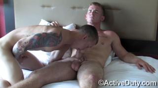 corey and james at active duty