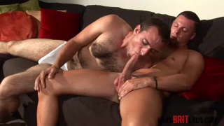Hairy guy gets fucked by Brit top