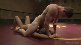 Nude wrestlers Conrad Logun and Will Parks
