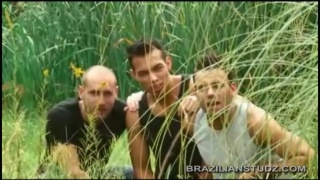 3 strangers watch these brazilians fuck outdoors