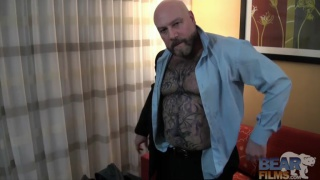 beefy tattooed daddy jacking off