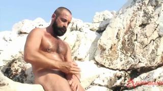Hairy bearded alpha male