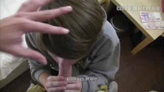 Bareback fuck for long-haired Czech boy