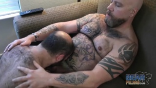 Tatted daddy and cute bear