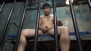 Myashi jerks off in prison cell