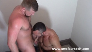 Muscle bottom Drew fucked by Andrew