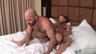 Hairy fellas Shay Michaels and Adam Russo bareback