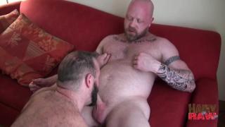 Scott Irish and Troy Webb at hairy and raw