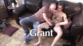 hairy cocksucker blows tattooed guy