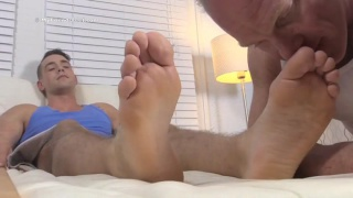 KC gets his perfect size 11 feet worshiped