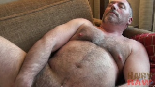Bo Francis jacking off at hairy and raw