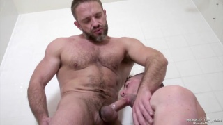 Dirk Caber and Scott Hunter at world of men
