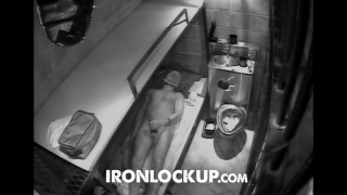 prisoner whacking off in his cell