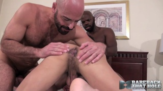 CutlerX, Adam Russo and Draven Torres at Bareback that hole