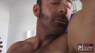 Brad Kalvo masturbating at hot older male