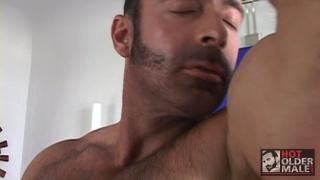 Brad Kalvo masturbating at hot older male