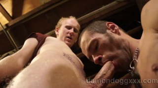 Damon Dogg Blows Cale at gay videos network