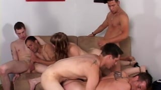 Bi-Bareback Orgy - Part 3 at hot barebacking