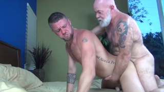 Noah Post and Christian Matthews at hot older male