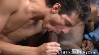 black top stuffs his thick cock in bottom's ass