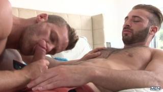 Jarec Wentworth and Landon Conrad in predator