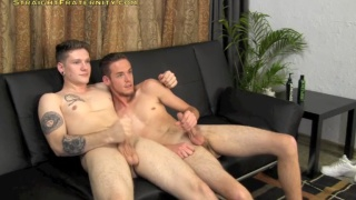 blake barnes and dixon at straight fraternity