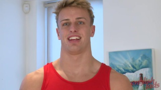 blond wes wanks off at english lads