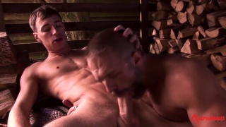 dirk caber and kayden gray at alphamales