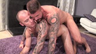 Rocco Steele and Cam Christou at bareback that hole