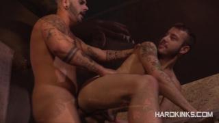 Aday Traun & Damian Gomez play rough at hard kinks