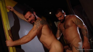 Jessy Ares and Ricky Ares fucking at men at play