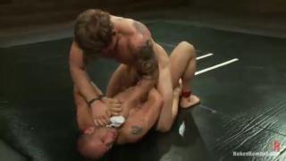 Leo Forte vs Trent Diesel wrestle at naked kombat