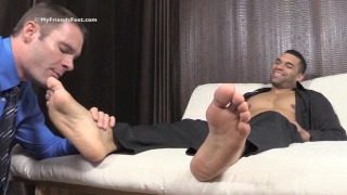 manly man cash gets his feet worshiped