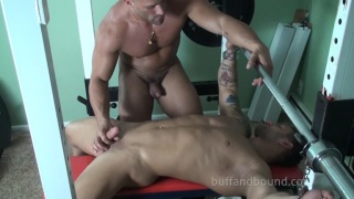 bodybuilders suck dick at buff and bound