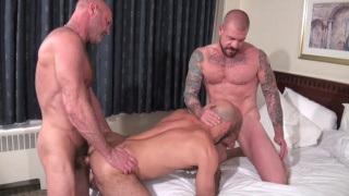 Rocco Steele, Chad Brock and Adam Russo at bareback that hole