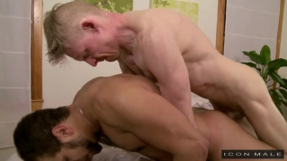 Rob Yaeger and  Brock Avery at icon male