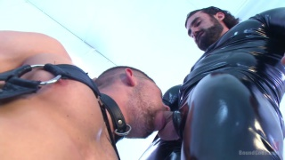Jaxton Wheeler and Connor Halsted at bound gods