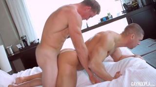Sean Costin and Derek Jones at gay hoopla