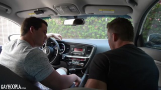 Ryan Winter FUCKS Derek Jones at gay hoopla