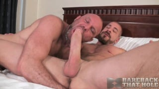 Chad Brock and Rocco Steele at bareback that hole