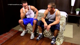 cameron kincade worships adam's feet on my friends' feet