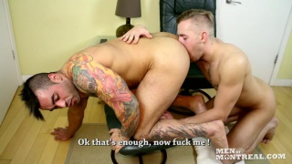 Kyle Champagne & Emilio Calabria at men of montreal