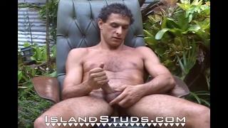 Handsome Nudist drew at island studs