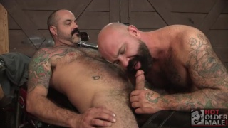Victor West and Scotty Rage at hot older male