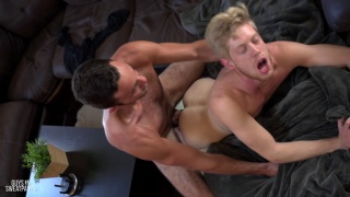 Justin Dodge and Riley Gray at Guys in Sweatpants